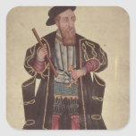 Francisco de Almeida, illustration Square Sticker