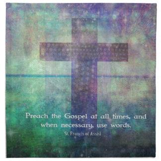 Francisco de Assis - predique la CITA del evangeli Servilleta Imprimida
