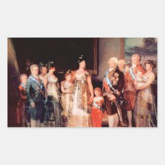 Francisco de Goya - Charles IV of Spain and His Fa Rectangular Sticker