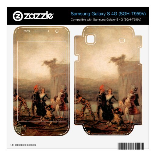Francisco de Goya - Comicos Ambulantes Samsung Galaxy S 4G Skin