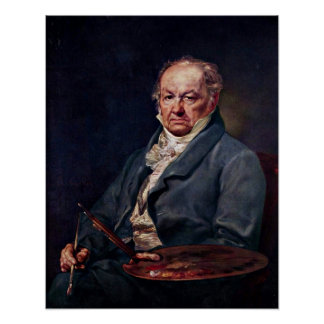 Francisco de Goya de Vicente López y Portana Poster