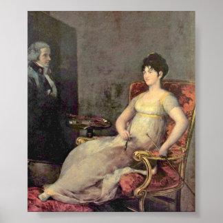 Francisco de Goya - duquesa y Marchioness Posters