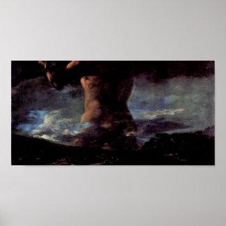 Francisco de Goya - el coloso (o pánico) Póster