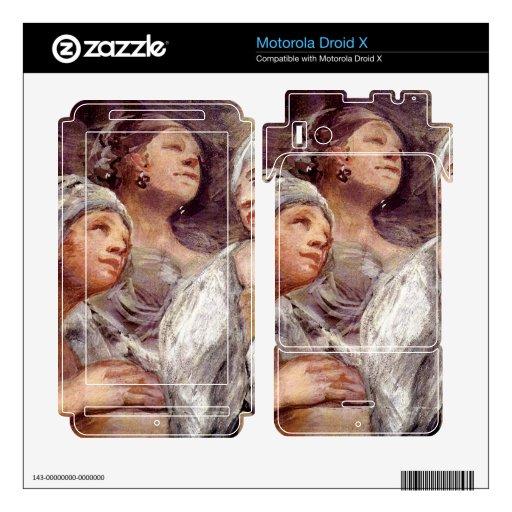 Francisco de Goya - espectadores Skins Para Motorola Droid X