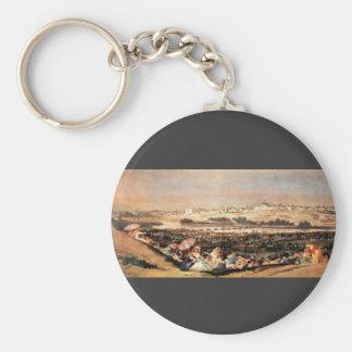 Francisco de Goya - Folk Festival at the San Isidr Key Chain