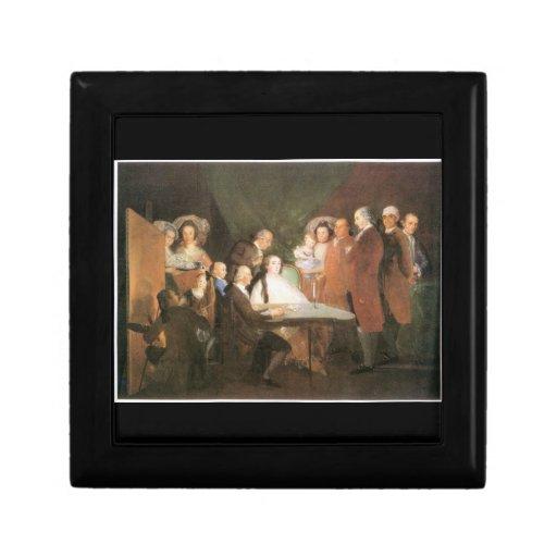 Francisco de Goya - La famille de l infant Don Lou Trinket Boxes