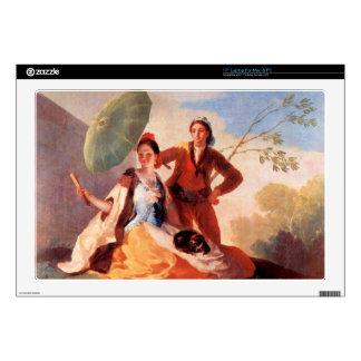 Francisco de Goya - los paraguas Portátil Calcomanías