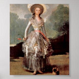 Francisco de Goya - Marquesa de Sandoval Poster