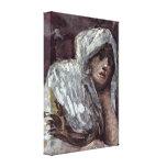 Francisco de Goya - mujer pensativa Impresión En Lona Estirada