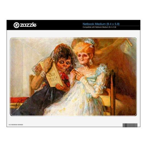 Francisco de Goya - pasado y presente entonces y a Calcomanía Para Netbook Mediano