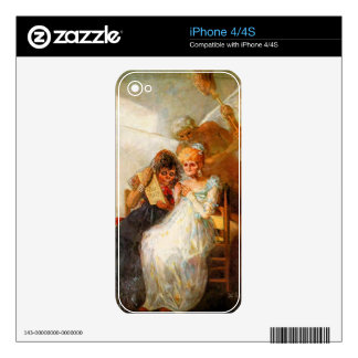 Francisco de Goya - past and present then and now iPhone 4S Skin