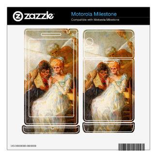Francisco de Goya - past and present then and now Motorola Milestone Skins