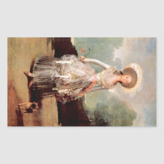 Francisco de Goya - Portrait of Marquesa de Pontej Rectangular Sticker