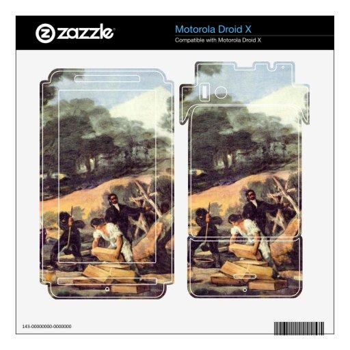 Francisco de Goya - pulverice la producción en el  Motorola Droid X Skin