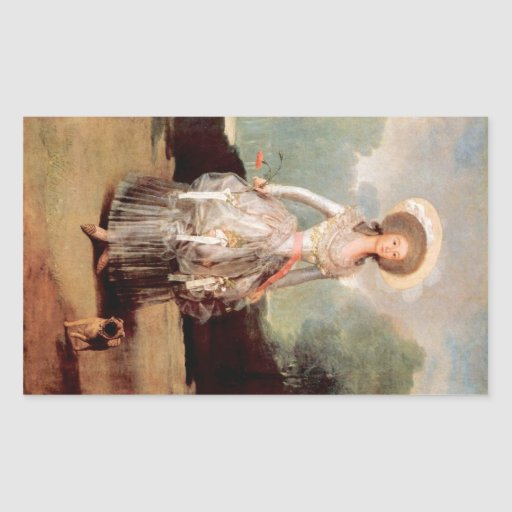 Francisco de Goya - retrato de Marquesa de Pontej Pegatina Rectangular