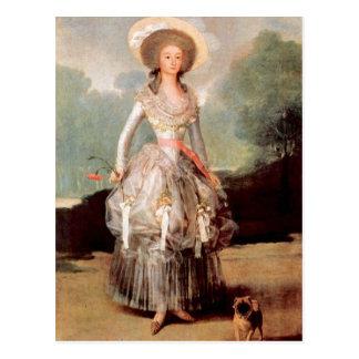 Francisco de Goya - retrato de Marquesa de Pontej Tarjeta Postal