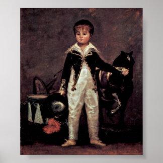Francisco de Goya - retrato de Pepito Bonelis Impresiones