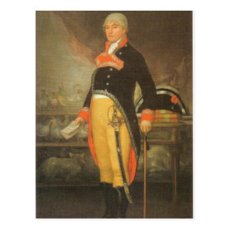 Francisco de Goya - retrato du naturaliste Felix Tarjeta Postal