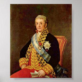 Francisco de Goya - Spanish Justice Minister Poster