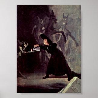 Francisco de Goya - The lamp of the Devil Poster
