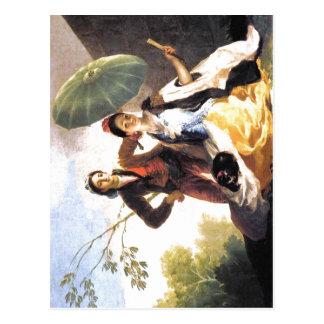 Francisco de Goya The Parasol Espa?ol: 1776-1778 T Post Cards