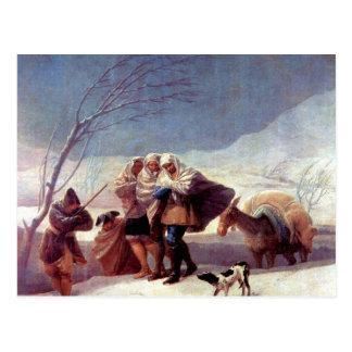 Francisco de Goya - The snowstorm Postcard