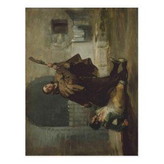 Francisco de Goya y Lucientes Friar Pedro Clubs El Postcard