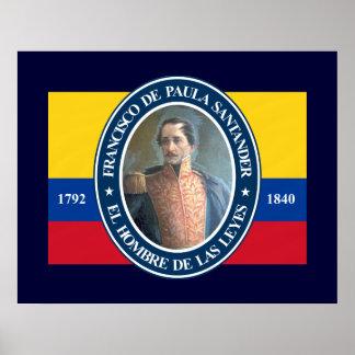 Francisco de Paula Santander Poster