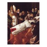 Francisco de Zurbaran-The Death de St. Bonaventura Tarjetas Postales