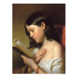 Francisco Eybl - Lesendes Mädchen (chica) de la le Postal