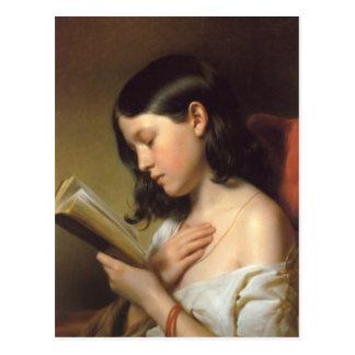 Francisco Eybl - Lesendes Mädchen (chica) de la Postales