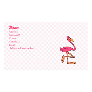 Francisco Flamingo Business Card Template