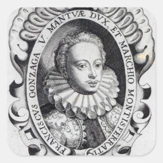 Francisco Gonzago, duque de Mantua y marqués Pegatina Cuadrada