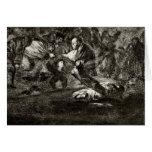 Francisco Goya- Absurdity funeral Card