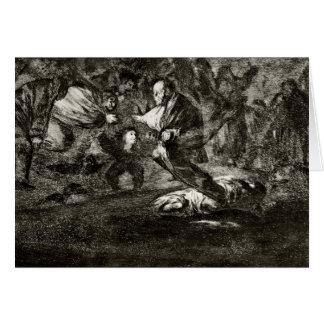 Francisco Goya- Absurdity funeral Greeting Card