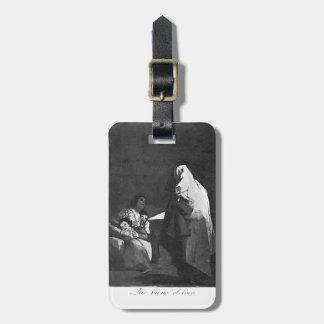 Francisco Goya- aquí viene el coco Etiquetas Maletas