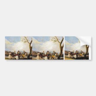 Francisco Goya- Blind Man's Buff Car Bumper Sticker