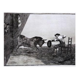Francisco Goya-Bravery of Martincho Postcard
