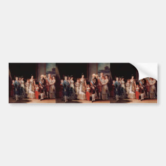 Francisco Goya- Charles IV of Spain and his family Car Bumper Sticker