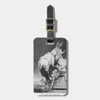 Francisco Goya- ellos que no pueden Etiquetas De Maletas
