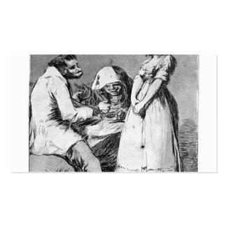Francisco Goya- es mejor estar ocioso Tarjetas Personales