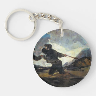 Francisco Goya- Fight With Cudgels Single-Sided Round Acrylic Keychain