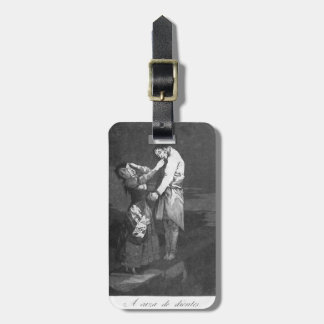 Francisco Goya- hacia fuera que caza para los dien Etiquetas De Equipaje