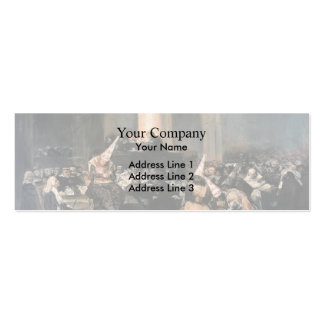 Francisco Goya- Inquisition Scene Double-Sided Mini Business Cards (Pack Of 20)