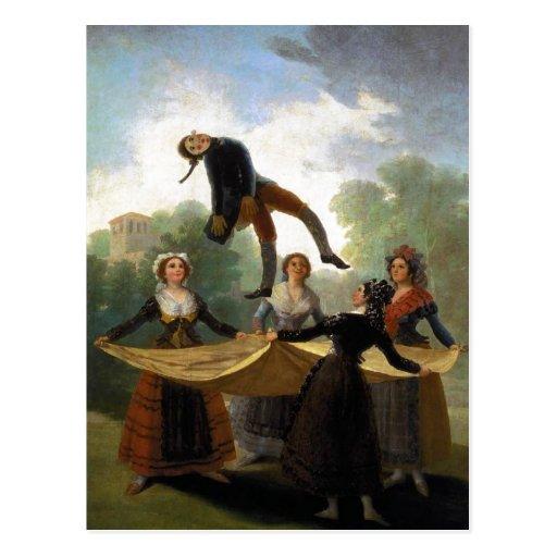 Francisco Goya, Kuka The Straw Manikin 1791-92 Oil Post Cards