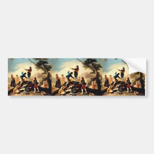 Francisco Goya- la cometa Etiqueta De Parachoque