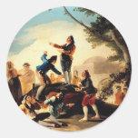 Francisco Goya- la cometa Pegatinas Redondas