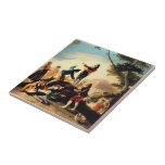 Francisco Goya- la cometa Teja Ceramica