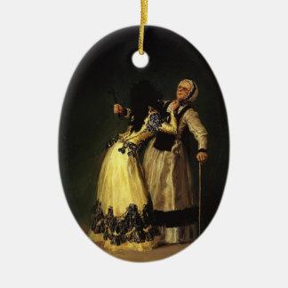 Francisco Goya- la duquesa de Alba y su dueña Ornamentos De Reyes