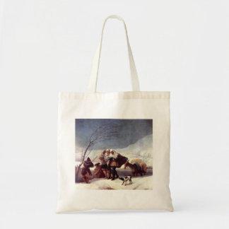 Francisco Goya- la nevada (invierno) Bolsa Tela Barata